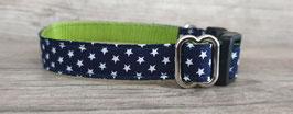 kleines Halsband Sternchen dunkelblau-grün (653)
