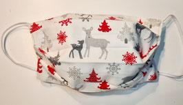 "Behelfsmaske Weihnachtsmaske ""Handmade"" (Nr. 75)"
