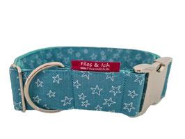 Halsband 4 cm (1068) Stars meeresgrün