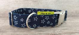 Halsband 3 cm (1083) Stars blau