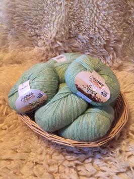 Alpaca  grün mele 50g von Ferner Wolle