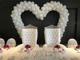 Arche Coeur en ballons pour mariage - Hauteur 3 mètres