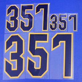 胸番号No.357