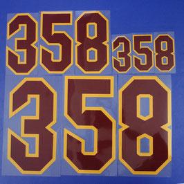 胸番号No.358