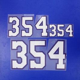 胸番号No.354