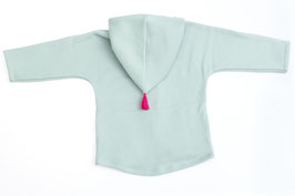 Jacke Baumwollfleece mint Bommel pink