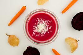 Bio Rote Rüben Suppe mit Balsamico - vegan