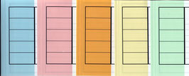 Ordnerbanderolen - farbig sortiert -
