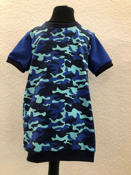 T-Shirt Camouflage Blau