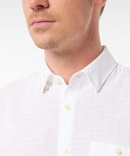 Pierre Cardin Hemd in Leinen Optik weiß