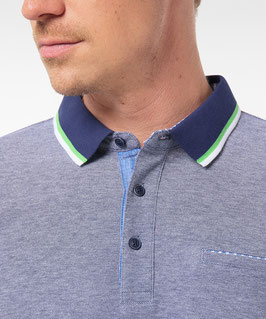 Pierre Cardin Bicolor Polo-Shirt aus Piqué blau