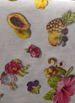 LONETA ESTAMPADA FRUTAS TROPICALES