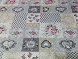 LONETA ESTAMPADA VINTAGE HEART
