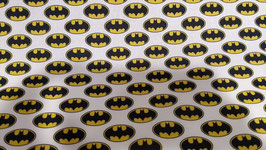 PATCH ESTAMPADO BATMAN LOGO BLANCO