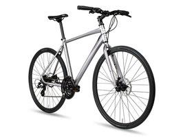 6KU Canvas – Hybridbike Silber mit Scheibenbremsen
