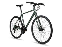 6KU Canvas Hybrid-Bike Dunkelgrün mit Scheibenbremsen