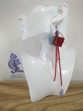 Boucles d'oreille COTINES modèle n°24 (ou votre prénom ?)