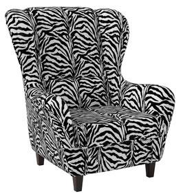 Tierfellimitat, Zebra Schwarz-Weiß