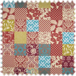 Patchwork, Floral, Ornamente, rot
