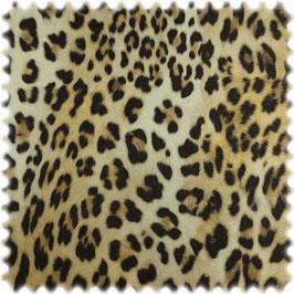 Samt-Velours, Tierfellimitat, Leopard