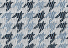 Webstoff, Hahnentritt, blau