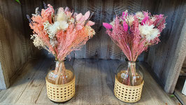 Fleurs séchées + vase