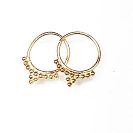 Bandit, gold plated zilveren oorringetje.