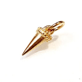 Dracula's tooth, gold plated zilveren tand.