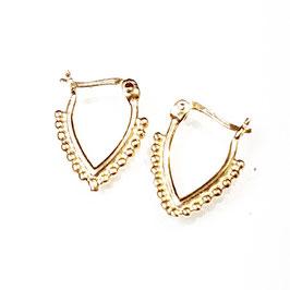 Precious, gold plated zilveren oorbellem