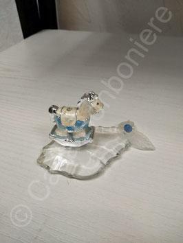 Blauer Schaukelpferd mit Kristall