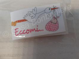 Geschenkkärtchen/Carte Regalo Storch