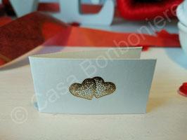 Geschenkkärtchen/Carte Regalo Goldene Doppelherzen
