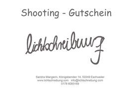 """Shooting - Gutschein  """"all Inn"""""""