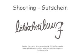 Shooting - Gutschein