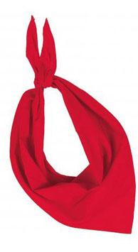 lot de bandanas 1 couleur au choix par lot sans marquage