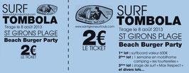 20 carnets de 10 tickets Billeterie Impression noire 21x8cm