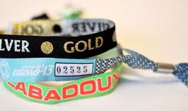 200 Bracelets Textiles Tissés