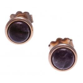 Boucles d'oreille acier rosé