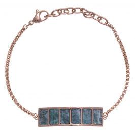 Bracelet acier rosé