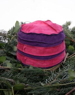 Pink-Lila Raulederkappe