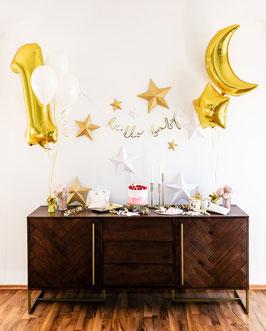 Party Deko Set Mond & Sterne