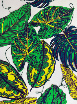 Girlande Tropische Blätter