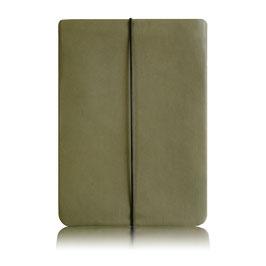 Notebook Hülle aus Leder KHAKI