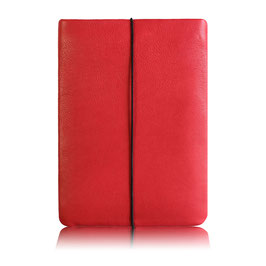 Notebook Hülle aus Leder HIMBEERROT
