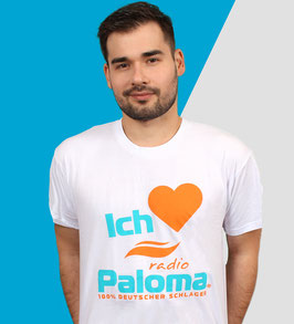 T-Shirt • Ich liebe Radio Paloma • Männer Weiss