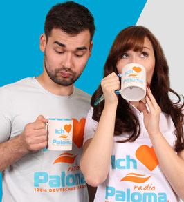Tasse • Ich liebe Radio Paloma • Weiss Blau