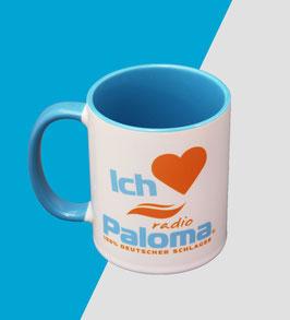10 Tasse Büro Paket • Ich liebe Radio Paloma • Weiss Blau