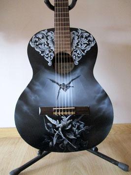 """Guitare acoustique custom """"La chute des anges rebelles"""""""