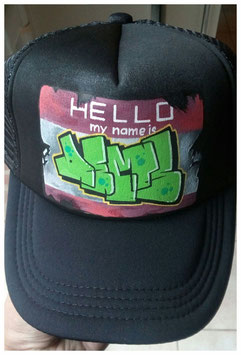 "Casquette Custom ""Hello my name is Dems"""