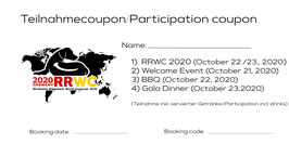 RRWC 2020: Participation including all additional offers, October 21st till 23rd 2020 // Teilnahme  inkl. aller Zusatzangebote, 21.-23. Oktober 2020